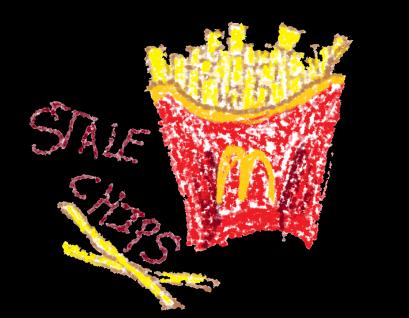 stale chips black